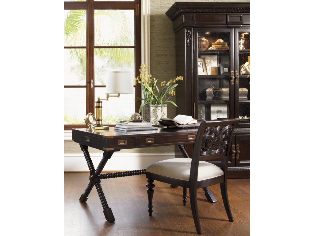 Shown with Poets Crossing Writing Desk and Ocean Crest Display Cabinet