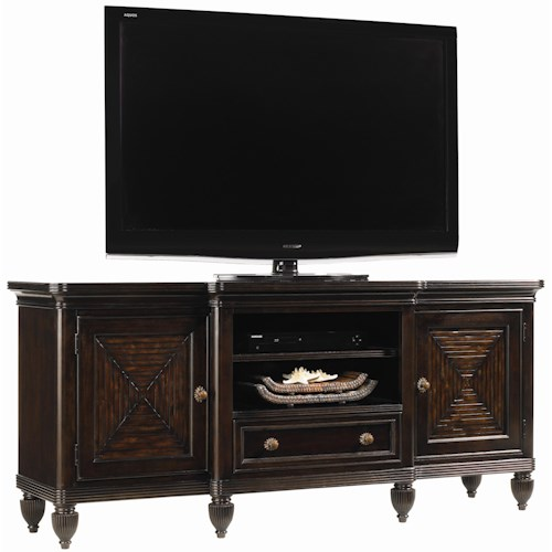 Tommy Bahama Home Royal Kahala Maui Entertainment Console with Bamboo Accents