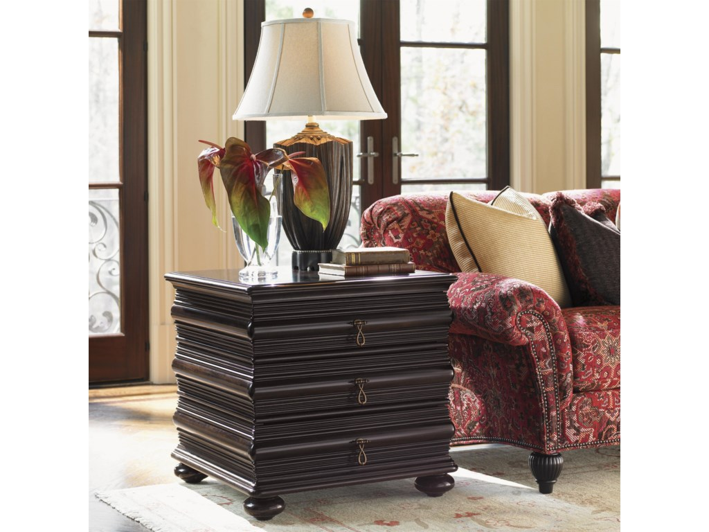 Tommy Bahama Home Royal KahalaBlack Sands Lamp Table