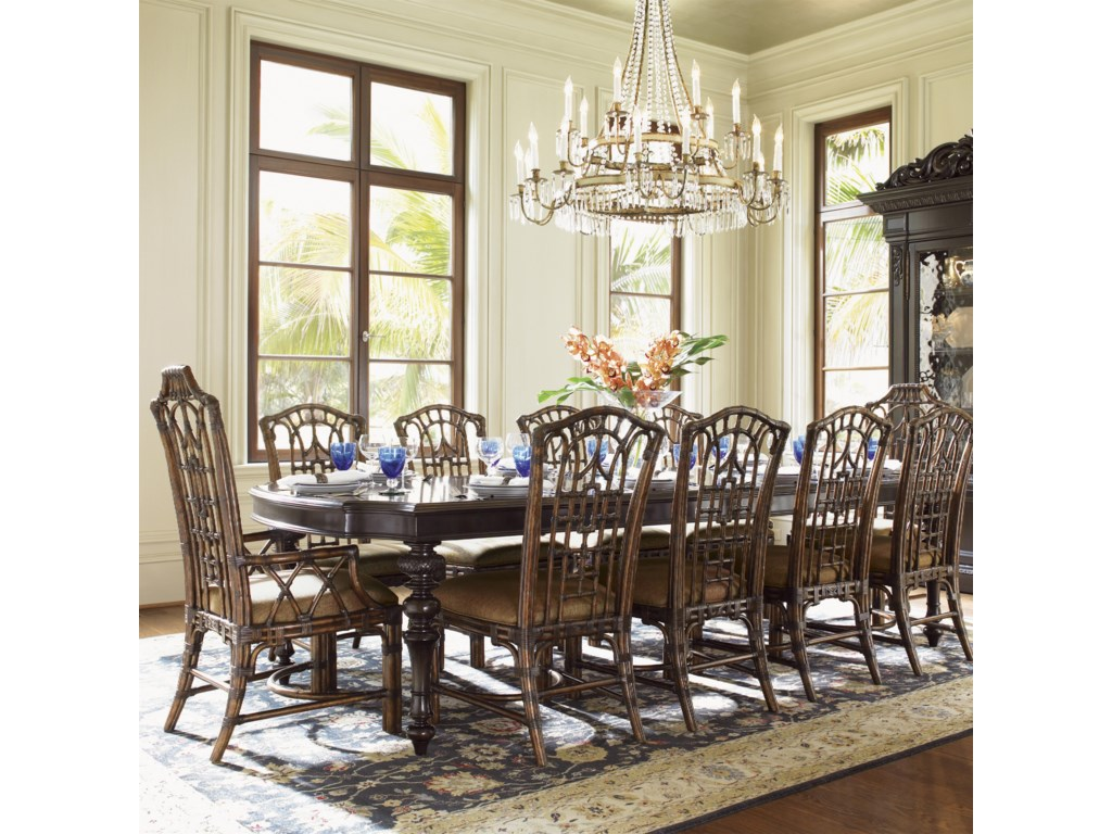 Shown with Pacific Rim Arm Chairs and Islands Edge Dining Table