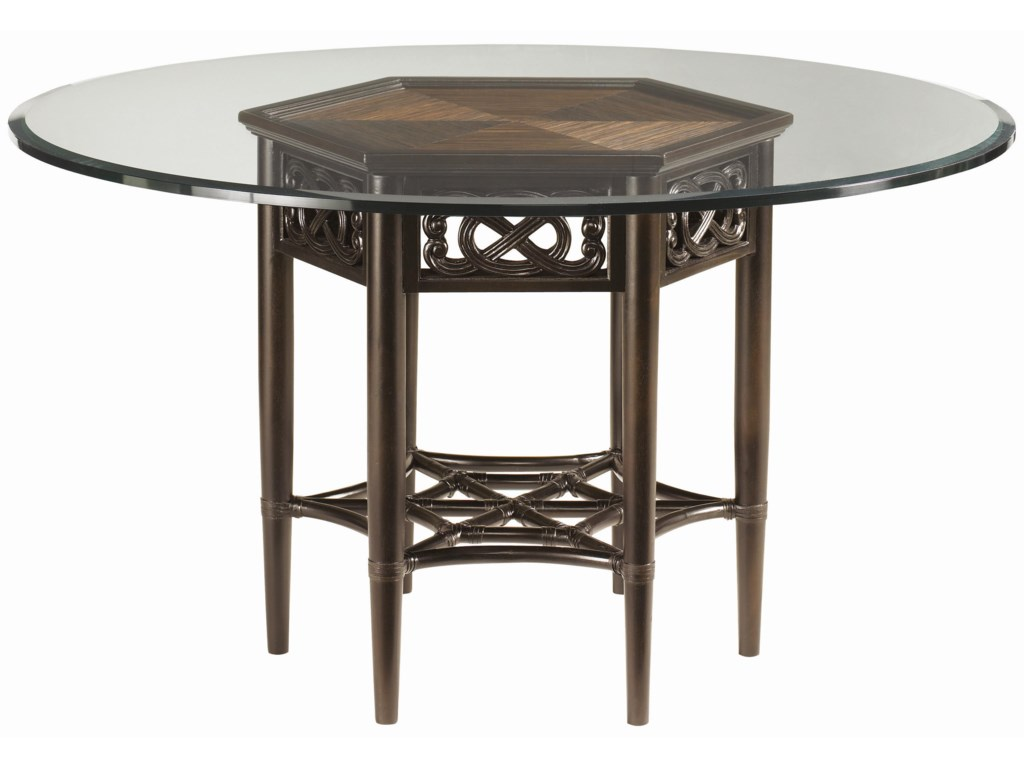 Tommy Bahama Home Royal Kahala Sugar and Lace Table with 54-Inch ...