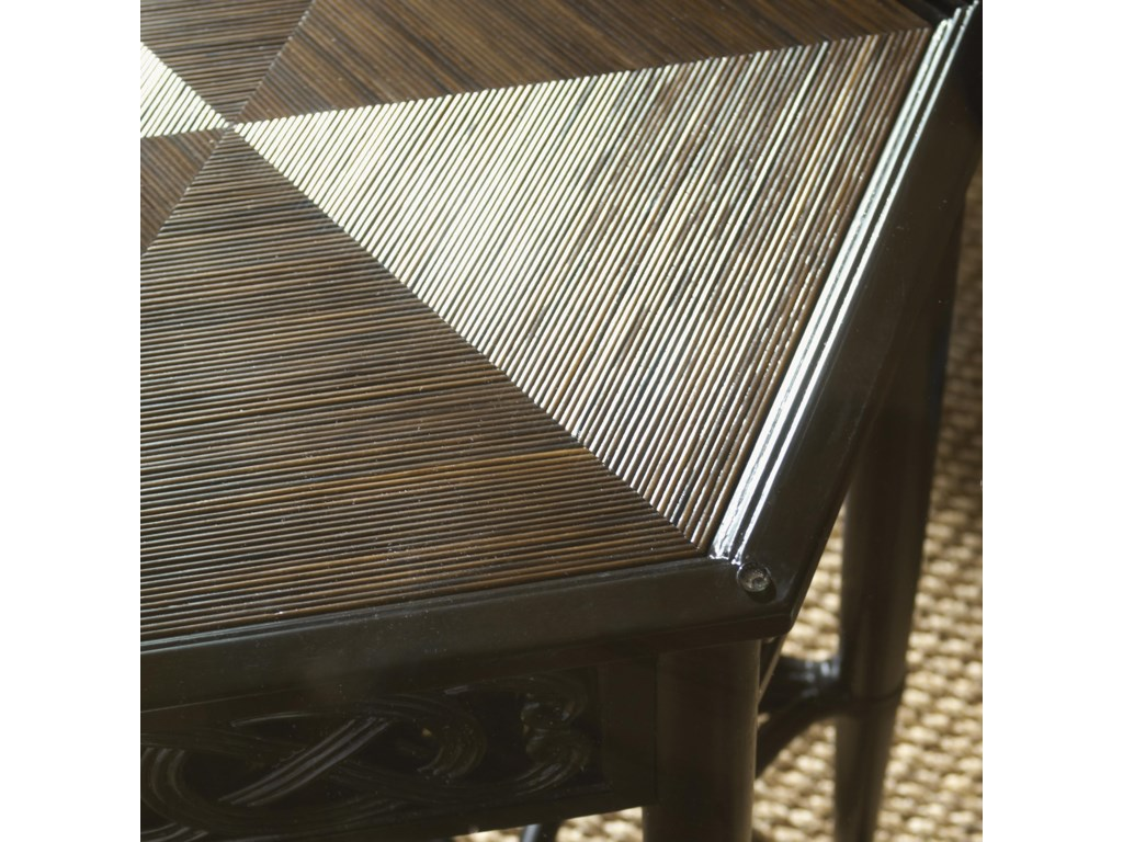 The Sugar Cane Top Adds Rich Texture to the Table Base