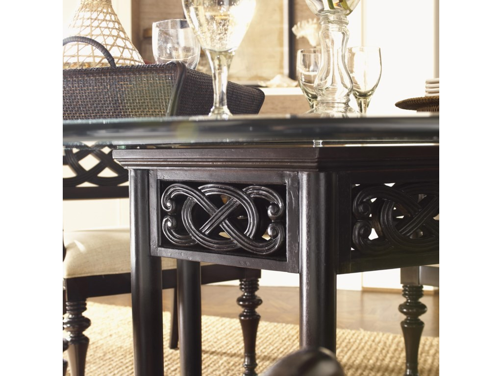Pierced Detailing on Table Base Gives a Lace-Like Impression