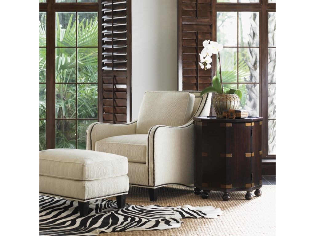 Shown with Koko Chair and Pacific Campaign Accent Table