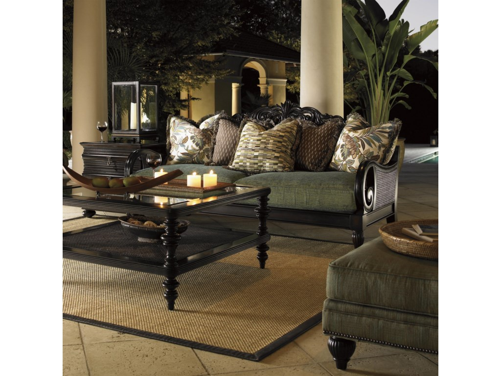 Shown with Turtle Bay Sofa, Black Sands Lamp Table, and Tropic Cocktail Table