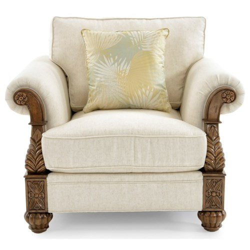 Tommy Bahama Home Tommy Bahama Upholstery Benoa Harbour Loose Back Chair in Customizable Fabrics