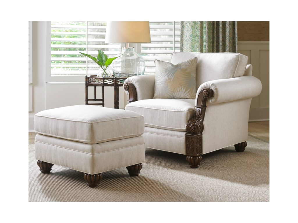 Tommy Bahama Home Tommy Bahama UpholsteryBenoa Harbour Ottoman Married