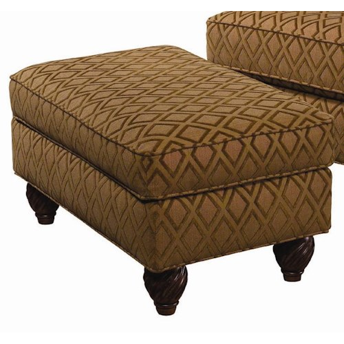 Tommy Bahama Home Tommy Bahama Upholstery Regatta Semi-Attached Top Ottoman
