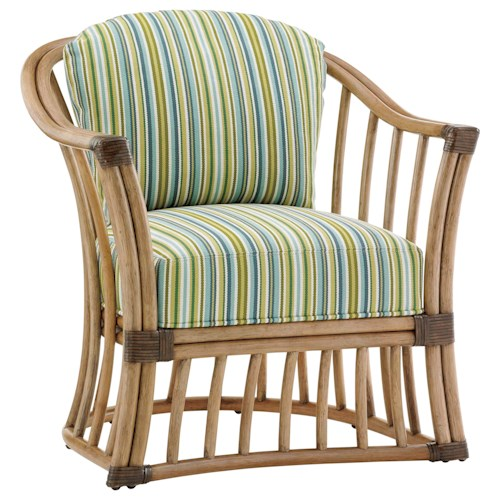 Tommy Bahama Home Twin Palms Paradise Cove Rattan Barrel Chair