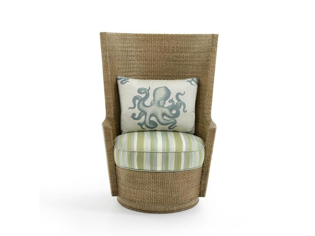 Tommy Bahama Home Twin PalmsLago Mar Swivel Chair