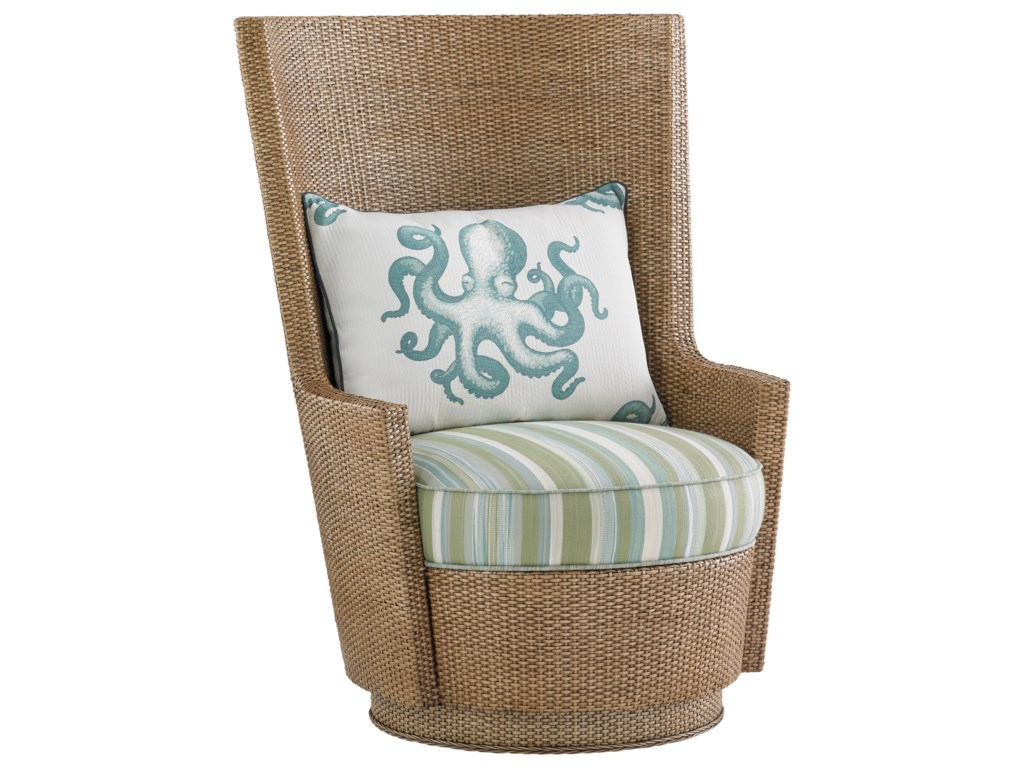 Tommy Bahama Home Twin PalmsLago Mar Swivel Chair