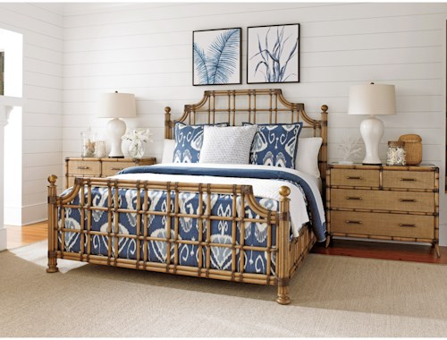 Tommy Bahama Home Twin Palms King Bedroom Group