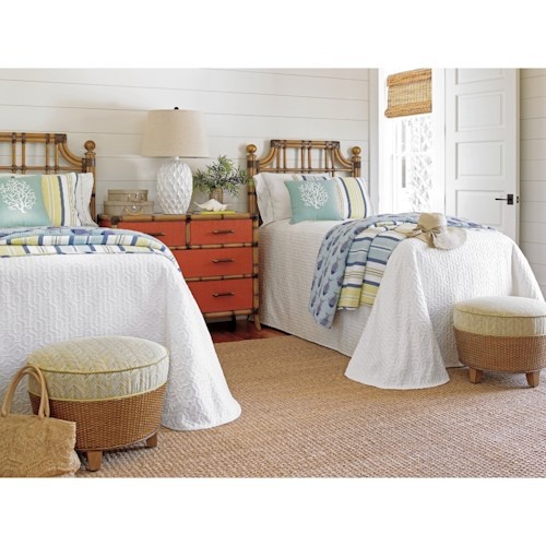 Tommy Bahama Home Twin Palms Twin Guest Bedroom Group