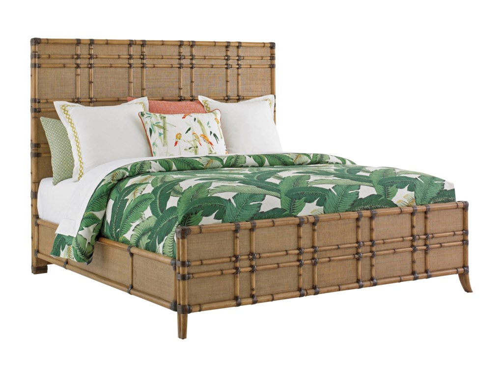 Tommy Bahama Home Twin PalmsQueen Size Coco Bay Panel Bed