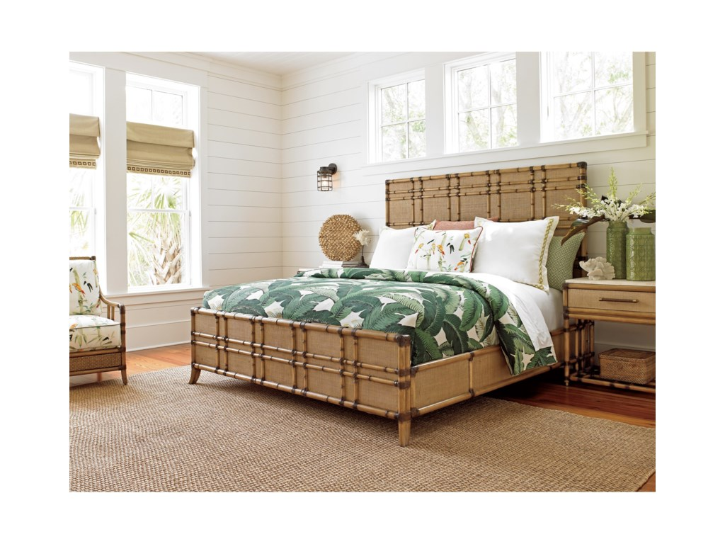 Tommy Bahama Home Twin PalmsKing Size Coco Bay Panel Bed