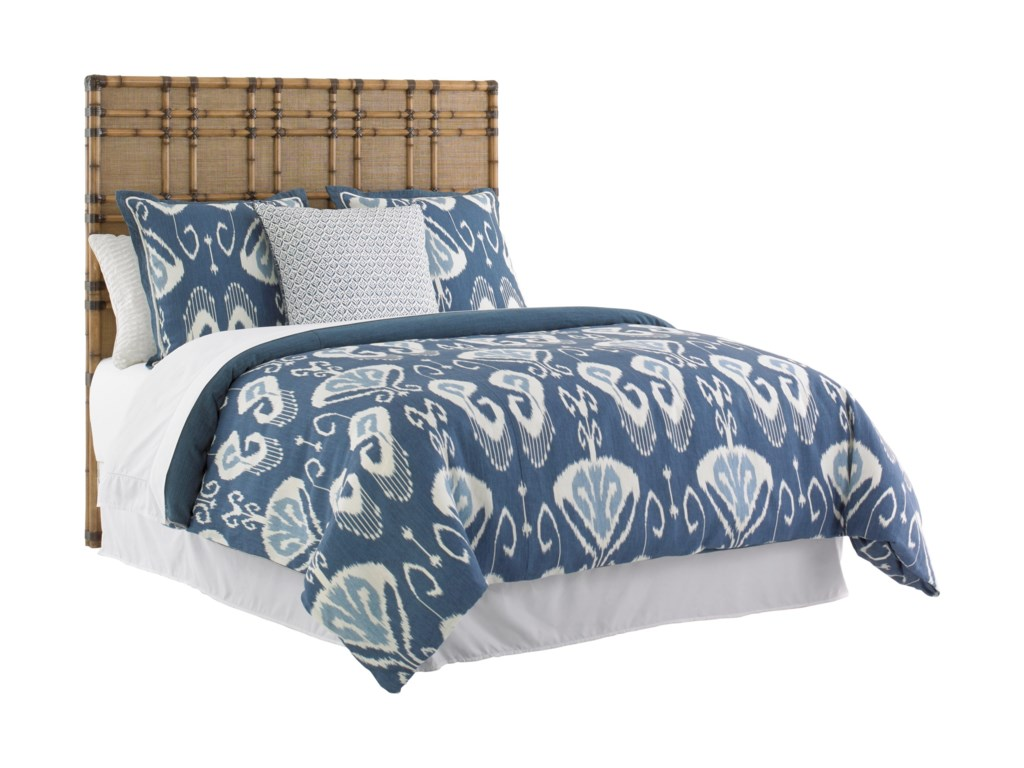 Tommy Bahama Home Twin PalmsQueen Size Coco Bay Headboard