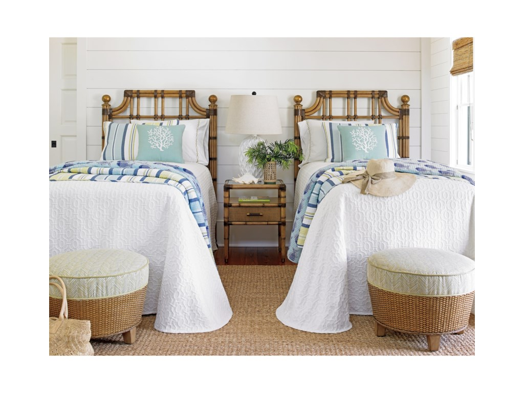 Tommy Bahama Home Twin PalmsSt. Kitts Twin Sized Headboard