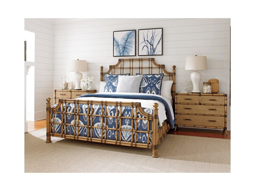 Tommy Bahama Home Twin PalmsSt. Kitts Bed King Size