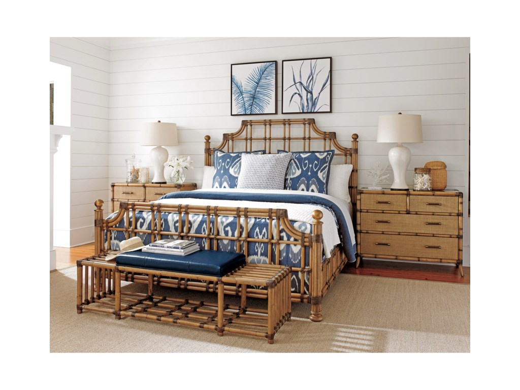 Tommy Bahama Home Twin PalmsSt. Kitts Bed Queen Size