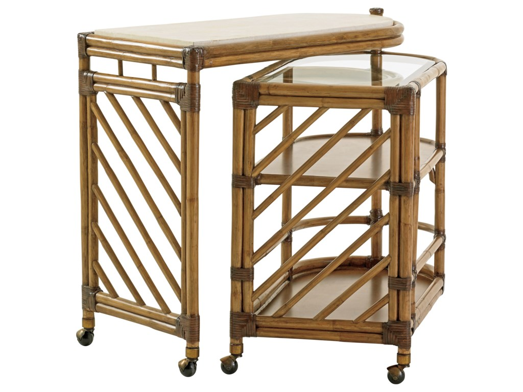 Tommy Bahama Home Twin PalmsCable Beach Bar Cart