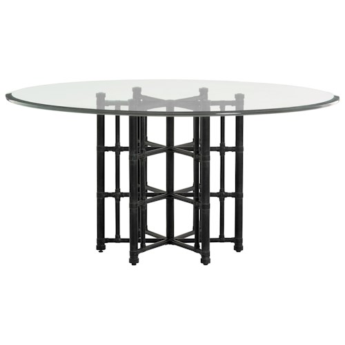 Tommy Bahama Home Twin Palms Stellaris Round Dining Table with 60