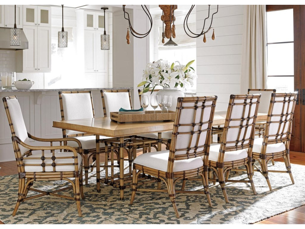 Tommy Bahama Home Twin Palms9 Pc Dining Set