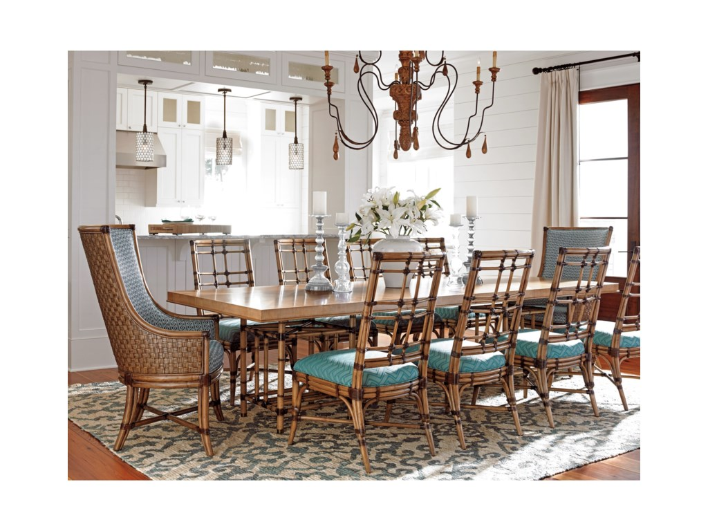 Tommy Bahama Home Twin Palms11 Pc Dining Set