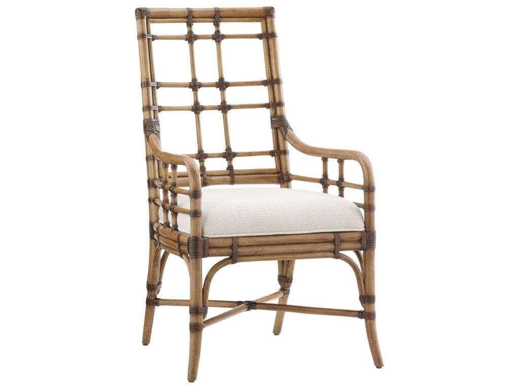 Tommy Bahama Home Twin PalmsSeaview Arm Chair (Married Fabric)