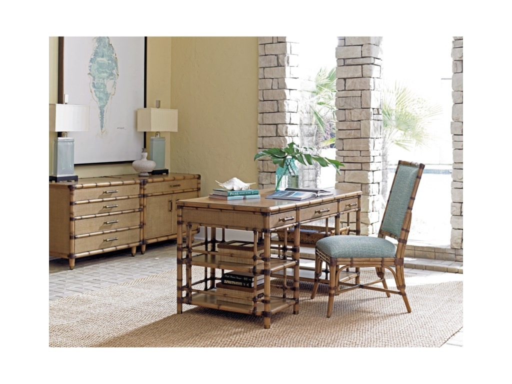 Tommy Bahama Home Twin PalmsSt. Vincent Pedestal Desk