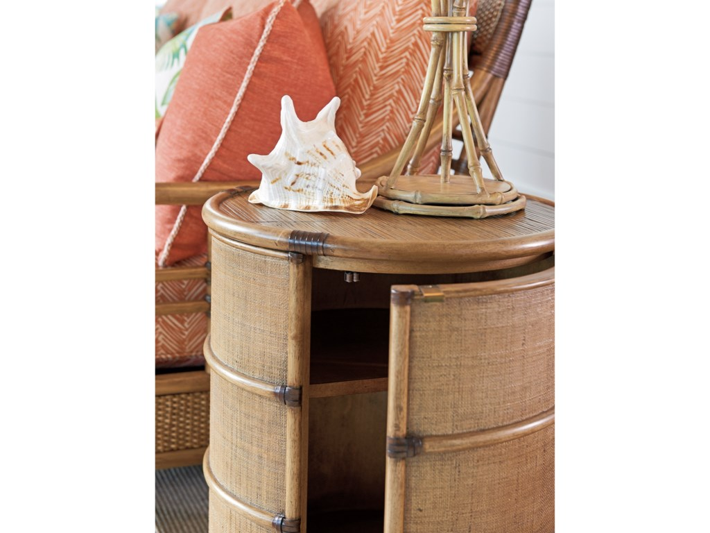 Tommy Bahama Home Twin PalmsCassada Drum Table