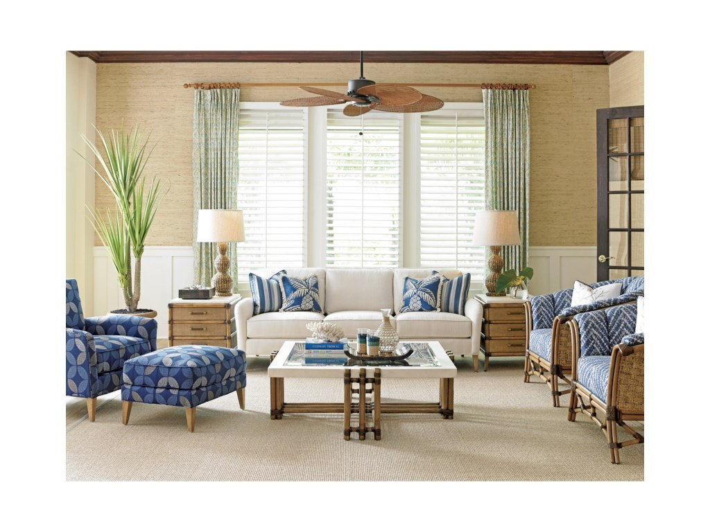 Tommy Bahama Home Twin PalmsVeracruz End Table