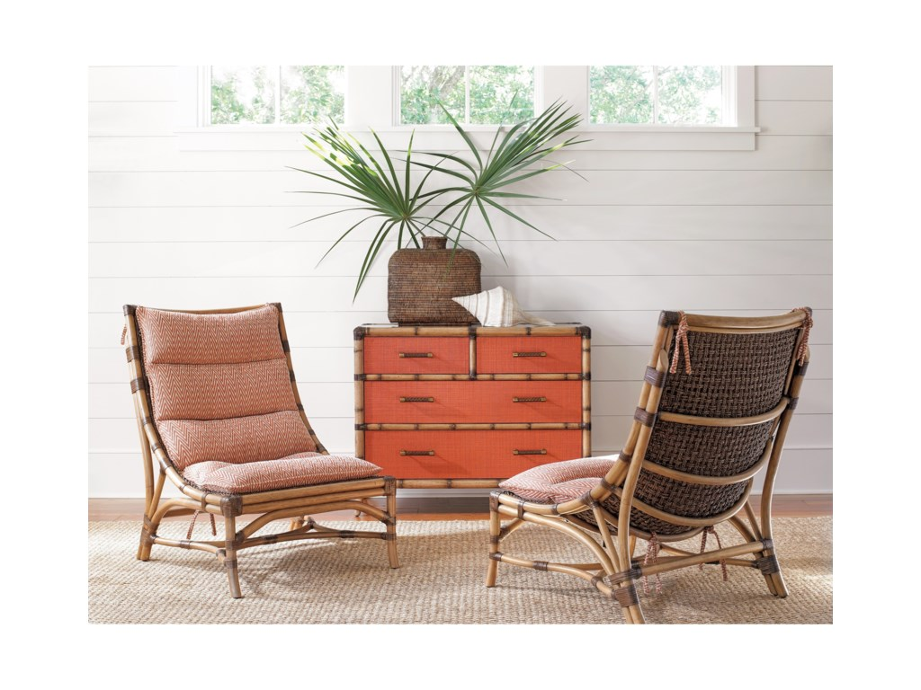 Tommy Bahama Home Twin PalmsRed Coral 4 Drawer Chest