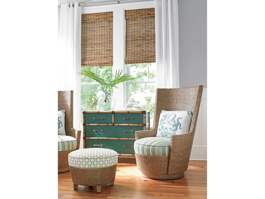 Tommy Bahama Home Twin Palms_TealAccent Chest