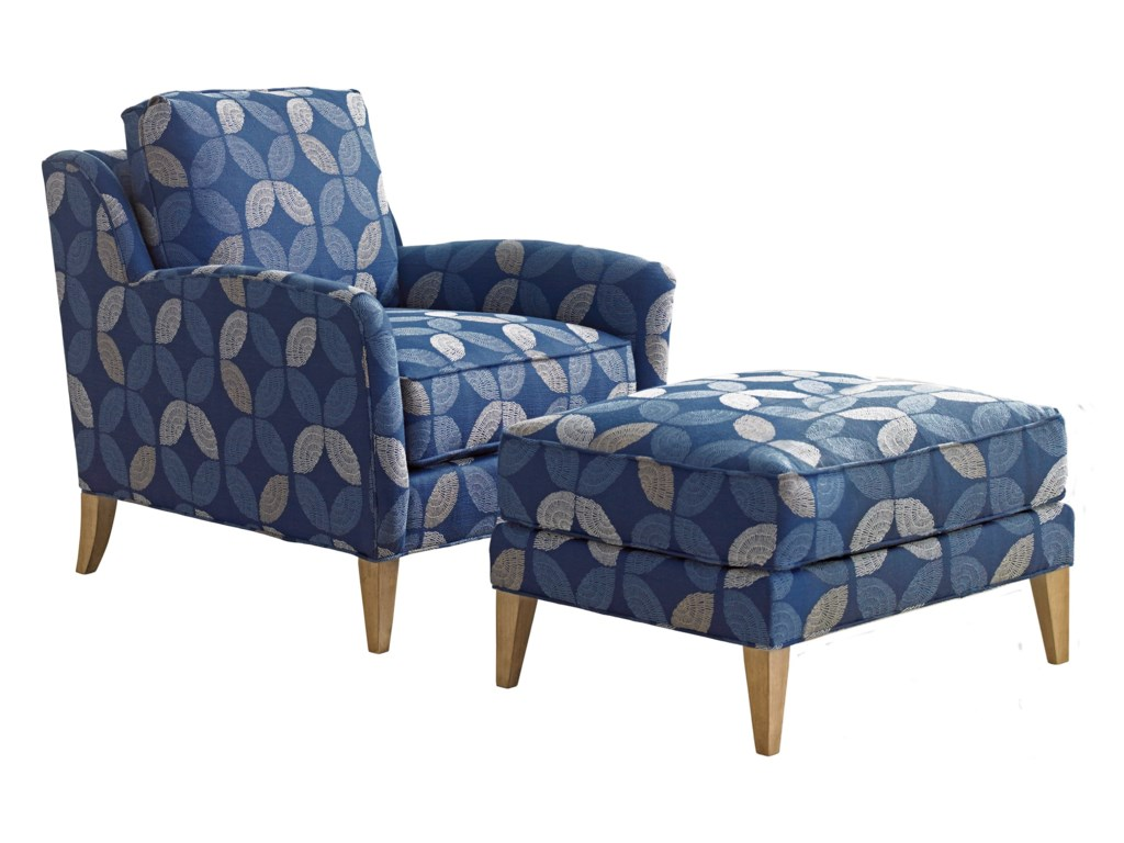 Tommy Bahama Home Twin PalmsCoconut Grove Chair and Ottoman Set
