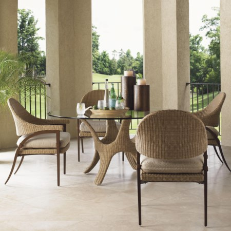 5 Piece Outdoor Dining Table Set