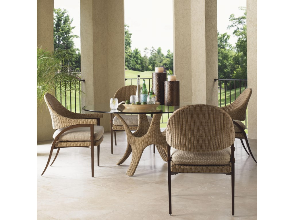 Tommy Bahama Outdoor Living Aviano5 Piece Outdoor Dining Table Set
