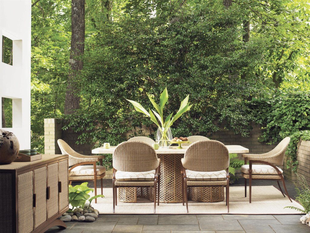 Tommy Bahama Outdoor Living Aviano7 Piece Outdoor Dining Table Set