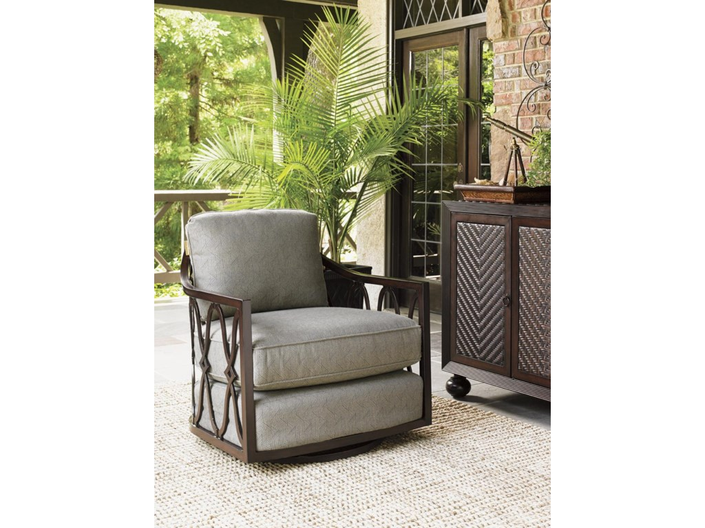 Tommy Bahama Outdoor Living Black SandsOutdoor Swivel Tub Chair