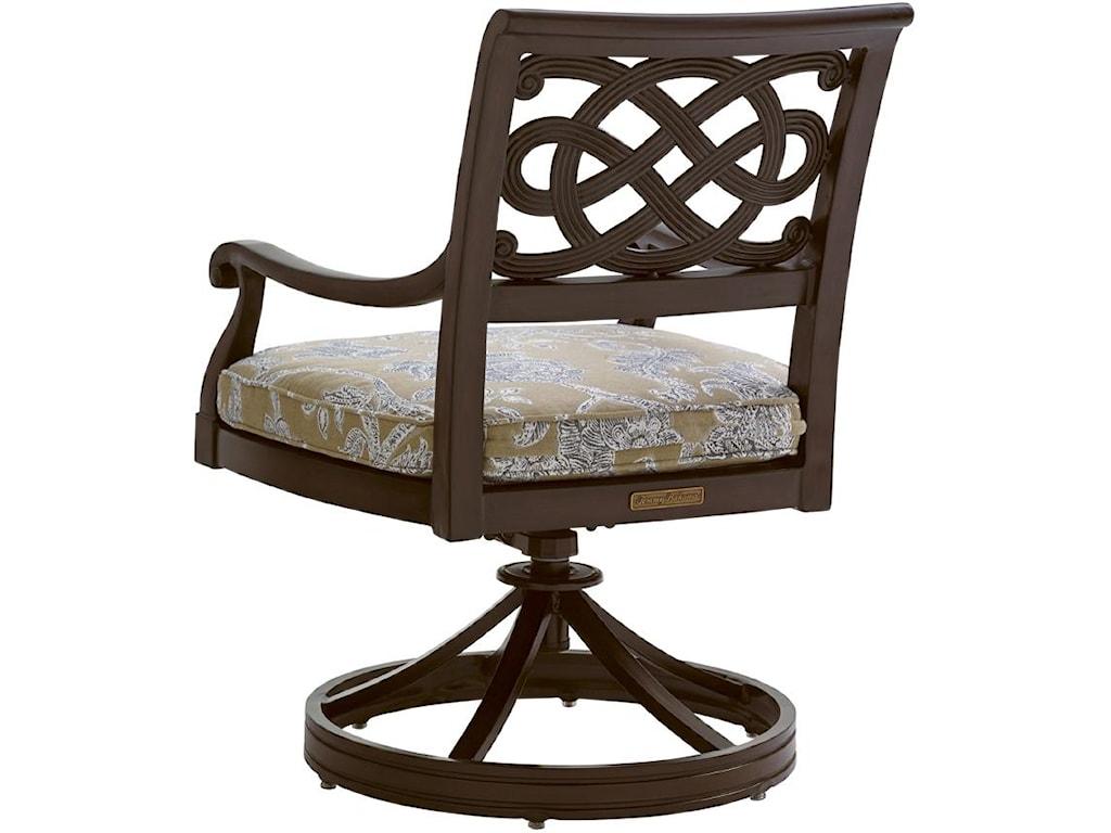Tommy Bahama Outdoor Living Black SandsOutdoor Swivel Rocker Dining Chair