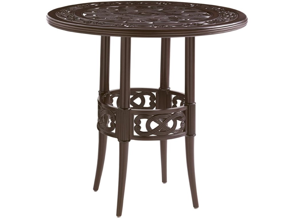 Tommy Bahama Outdoor Living Black SandsOutdoor High/ Low Bistro Bar Table