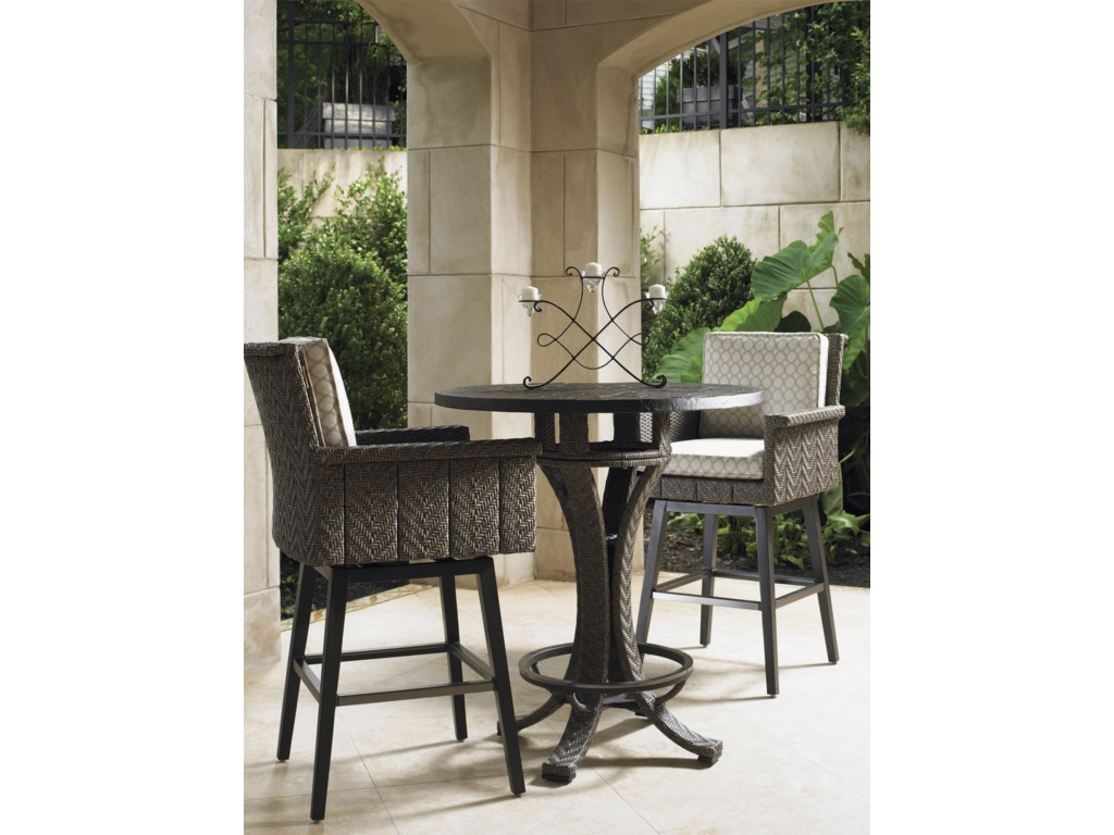 Tommy Bahama Outdoor Living Blue OliveHigh Bistro Table Set