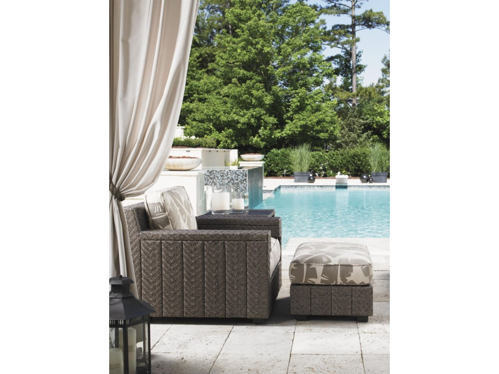 Tommy Bahama Outdoor Living Blue OliveOttoman