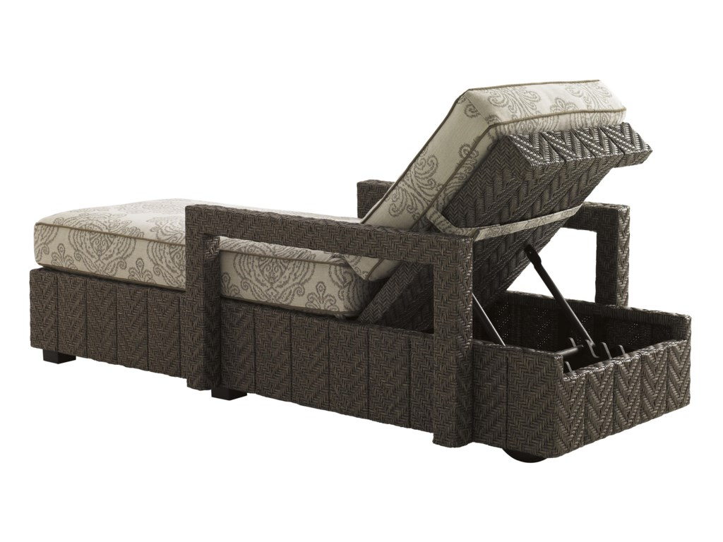 Tommy Bahama Outdoor Living Blue OliveChaise Lounge
