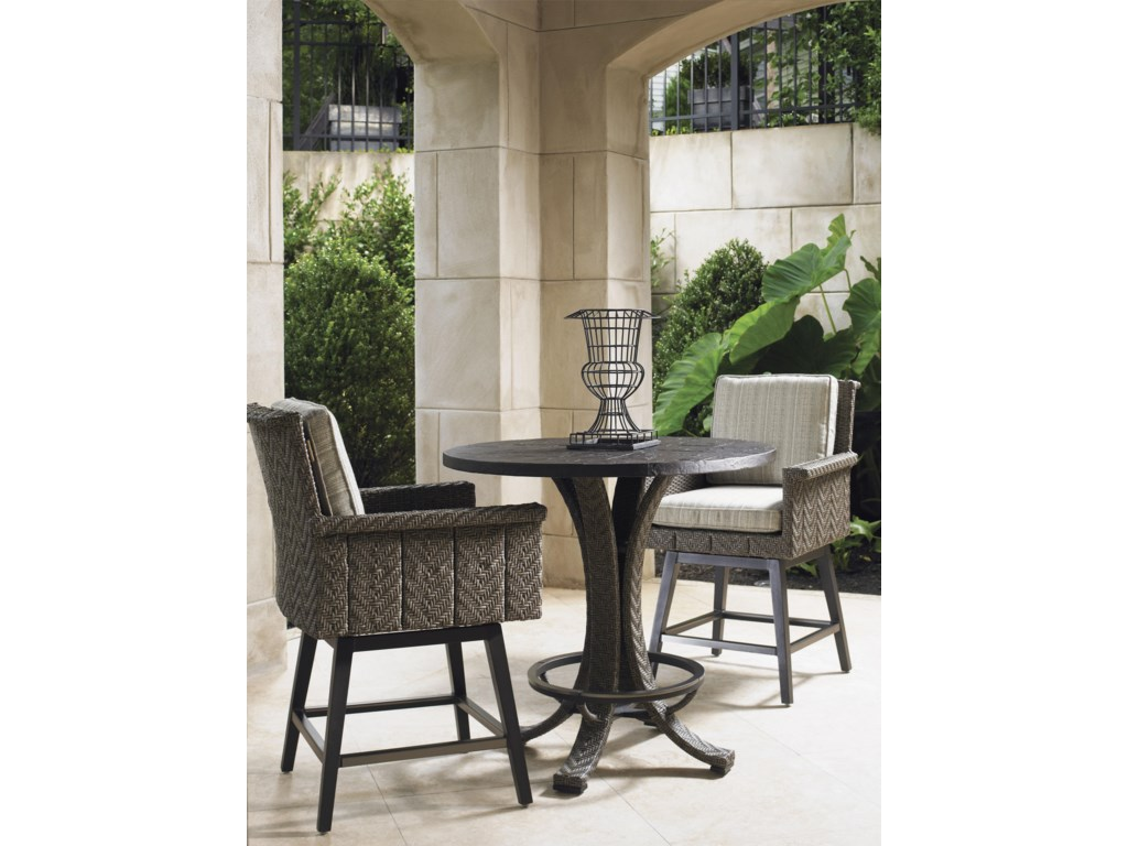 Tommy Bahama Outdoor Living Blue OliveLow Bistro Table Set