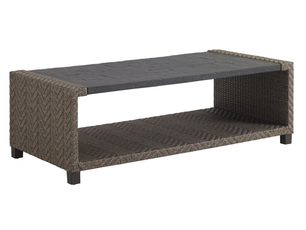 Tommy Bahama Outdoor Living Blue OliveRectangular Cocktail Table
