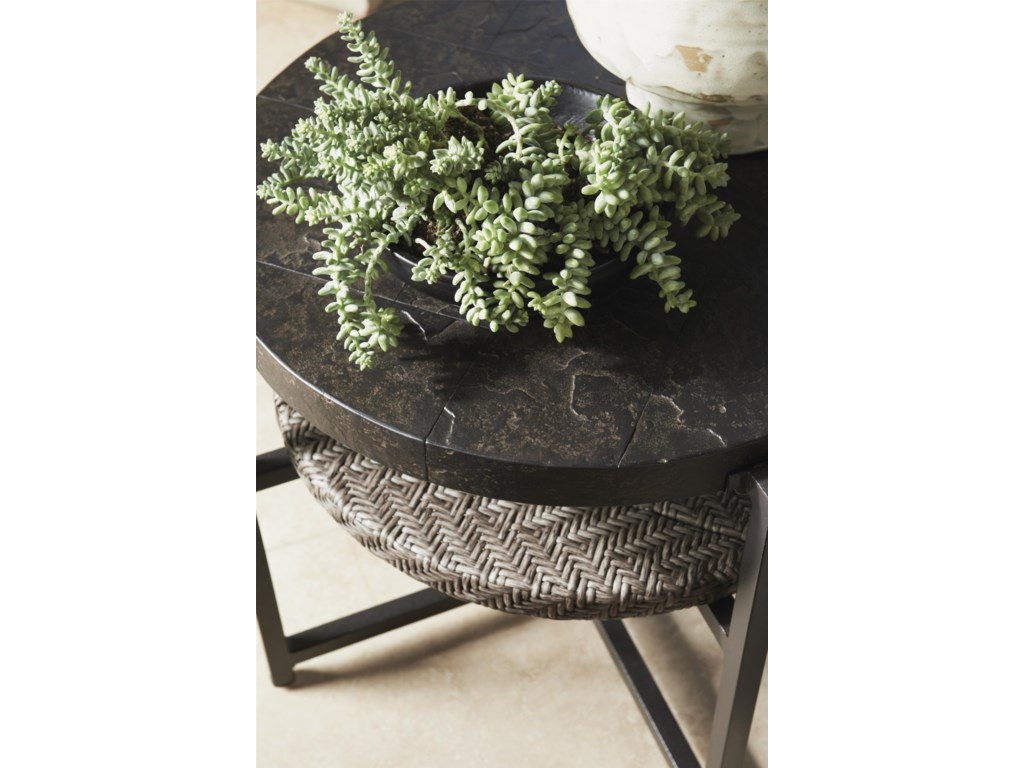 Tommy Bahama Outdoor Living Blue OliveRound End Table