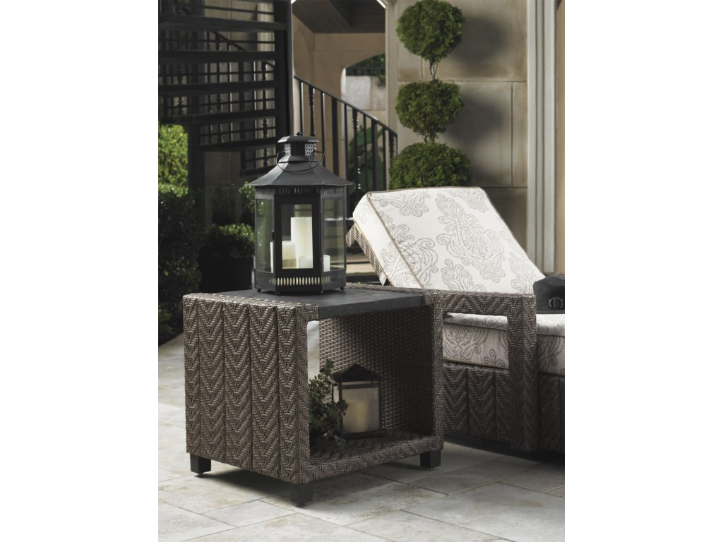 Tommy Bahama Outdoor Living Blue OliveSquare End Table