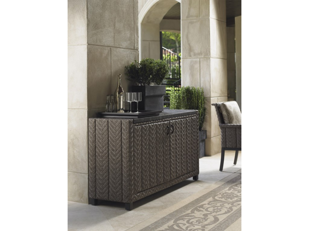 Tommy Bahama Outdoor Living Blue OliveBuffet/Console Table
