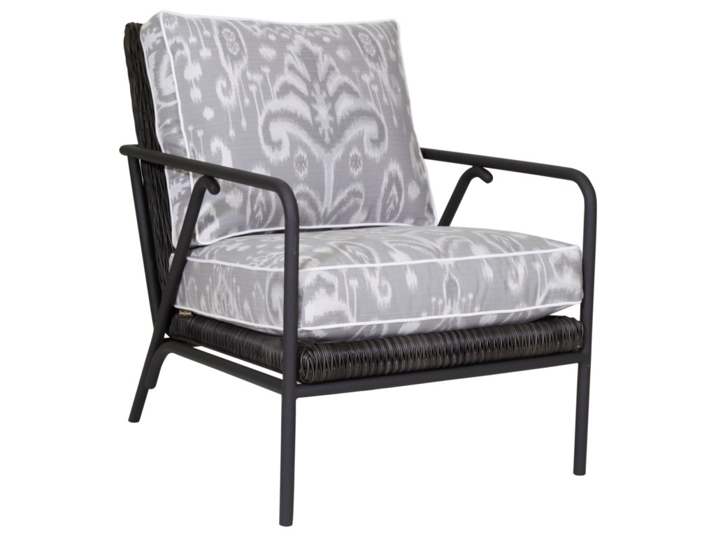 Tommy bahama outdoor living cypress point ocean terrace outdoor occasional chair with weatherproof cushions