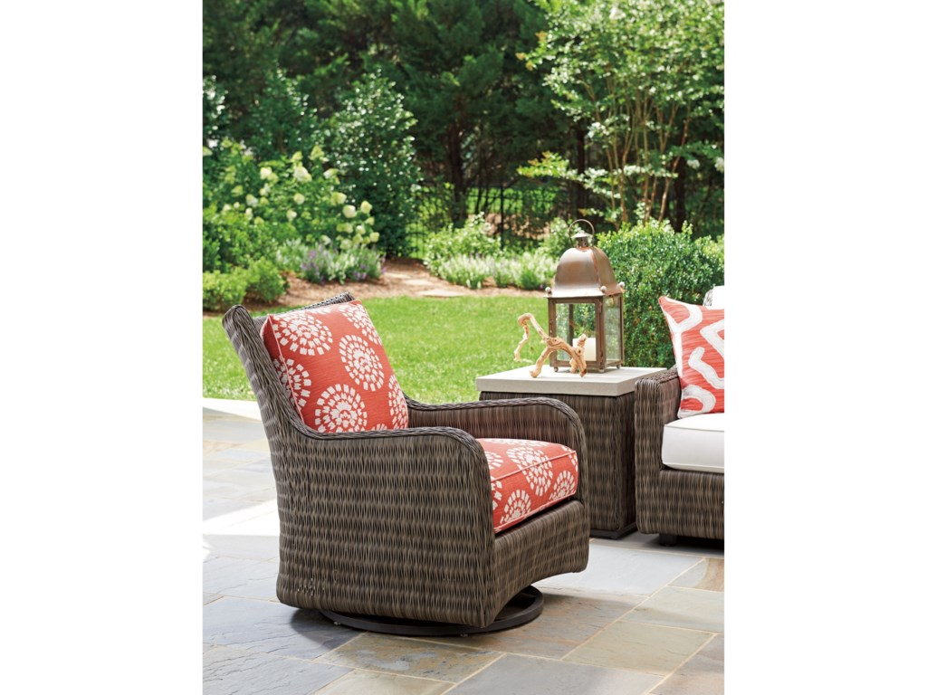 Tommy Bahama Outdoor Living Cypress Point Ocean TerraceOutdoor Occasional Swivel Glider